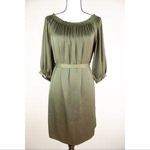H&M Dark green Satin Dress